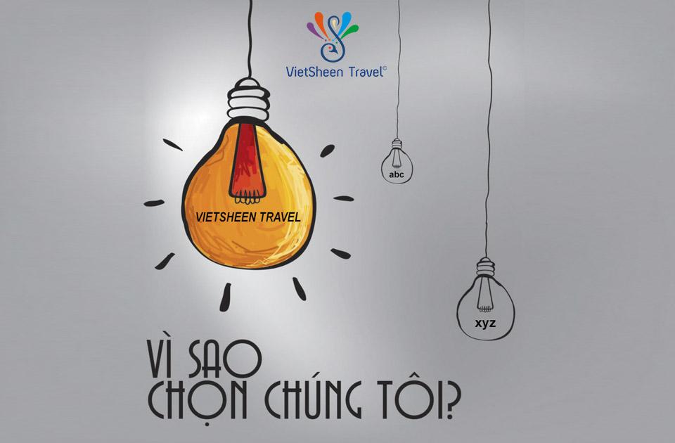 10 Lý do nên chọn VietSheen Travel
